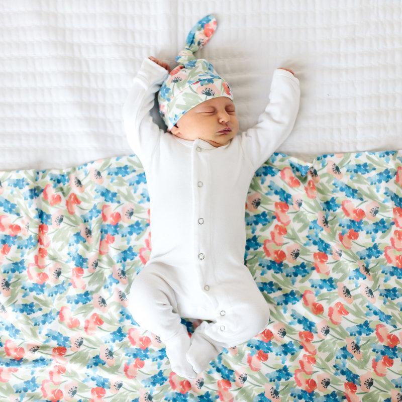 Copper Pearl Wren Knit Swaddle Blanket