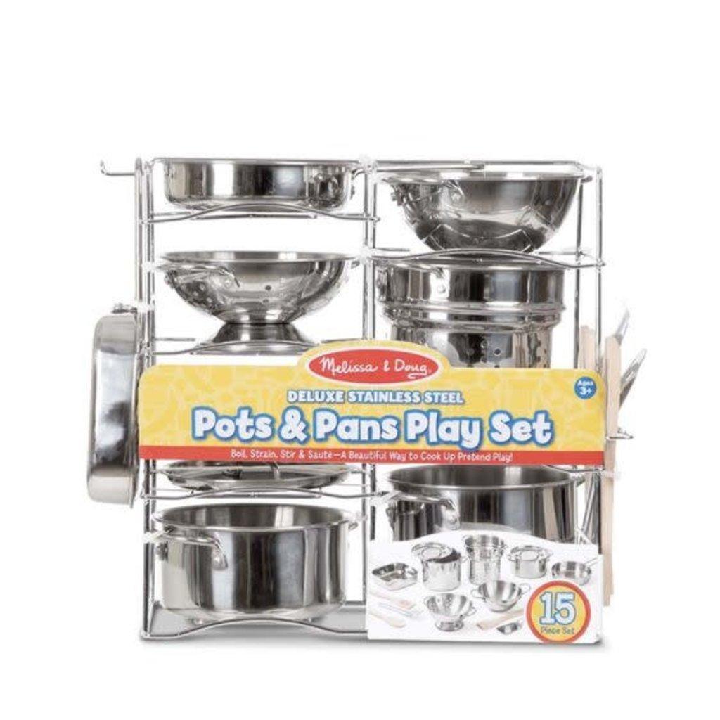 Melissa & Doug Deluxe Stainless Steel Pots & Pans