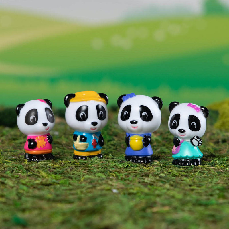 Fat Brain Timber Tots Panda Family