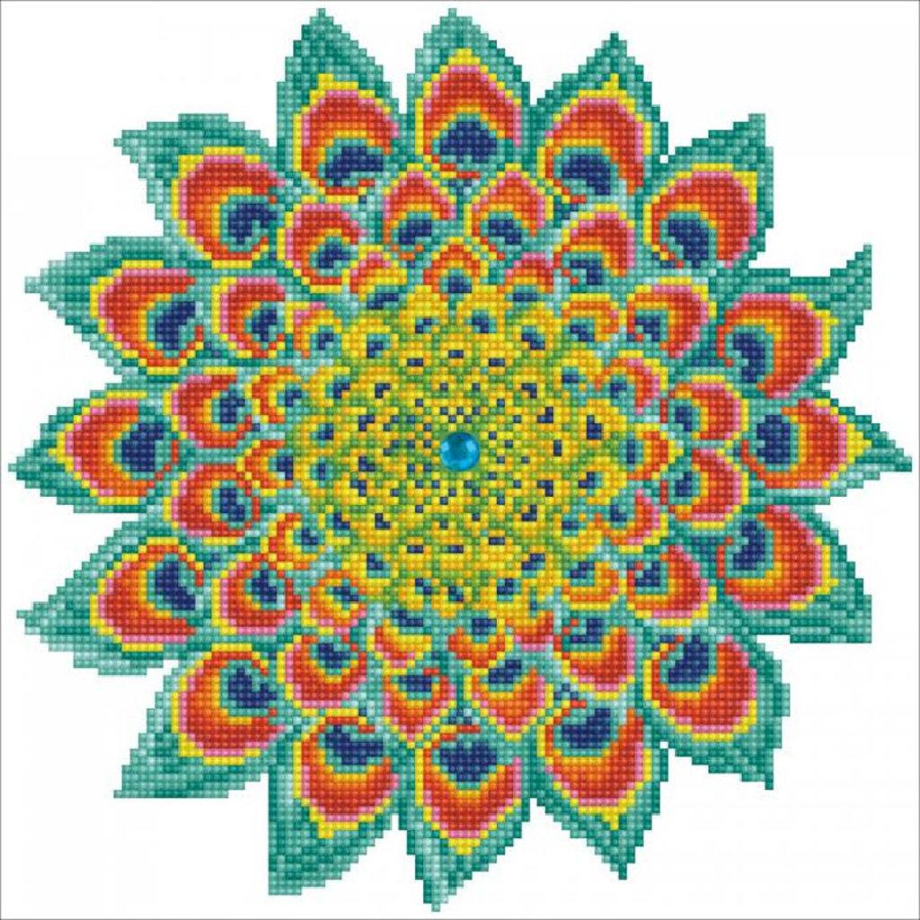 Diamond Dotz Peacock Mandala