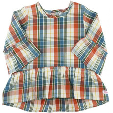 RuffleButts Miller Plaid Peplum Top