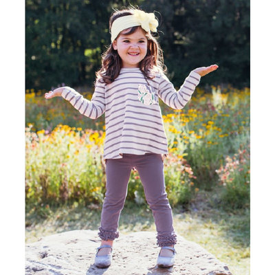 RuffleButts Walk in the Park Stripe Pocket Tunic