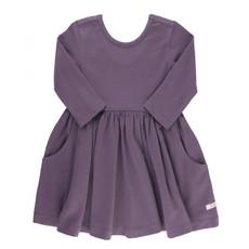 RuffleButts Shadow Purple Twirl Dress