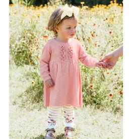 RuffleButts Ballet Pink Ruffle Sweater Dress