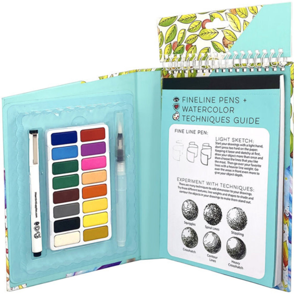 iHeartArt Travel Art Pack Watercolors & Pen