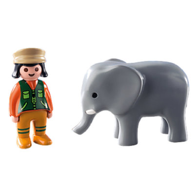 Playmobil 123 Zookeeper with Elephant