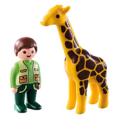 Playmobil 123 Zookeeper w/Giraffe
