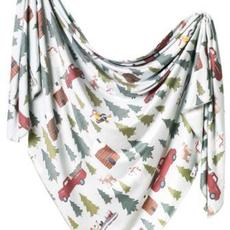 Copper Pearl Knit Swaddle Blanket | Kringle
