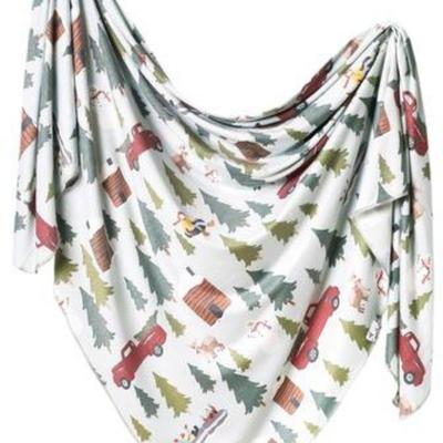 Copper Pearl Kringle Knit Swaddle Blanket