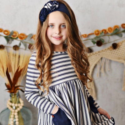 Swoon Baby Raleigh Dainty Stripe Pocket Dress - Toddler