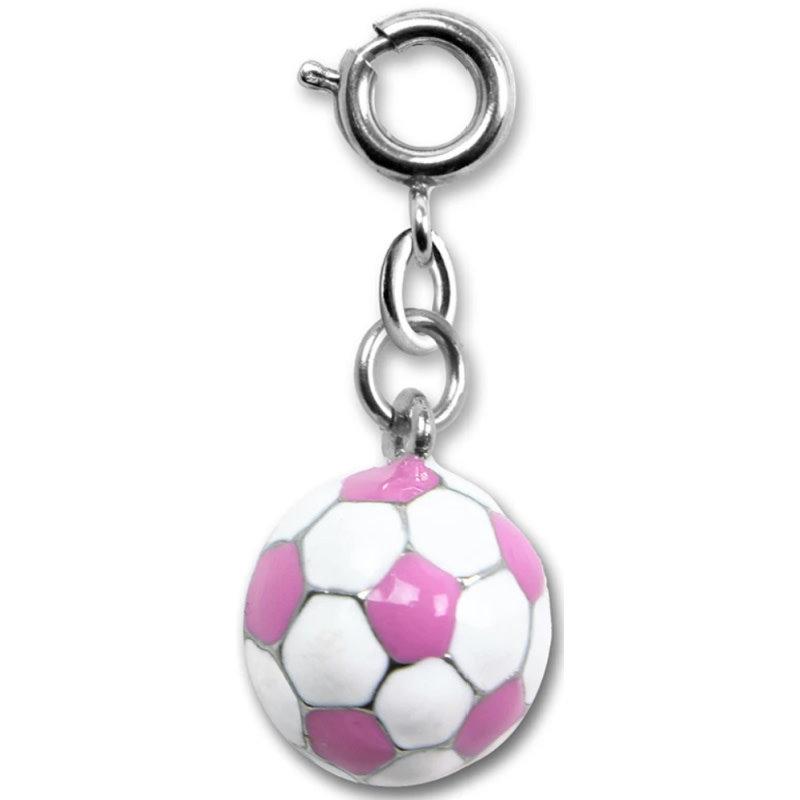 Charm It! Pink Soccerball Charm