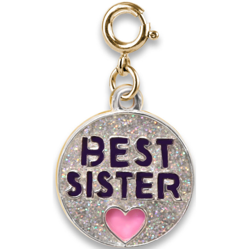 Charm It! Gold Glitter Best Sister Charm