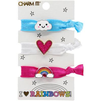 Charm It! Rainbow Hair Elastic Set