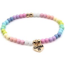 Charm It! Pastel Stretch Bead Bracelet