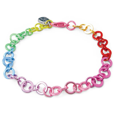 Charm It! Rainbow Chain Bracelet
