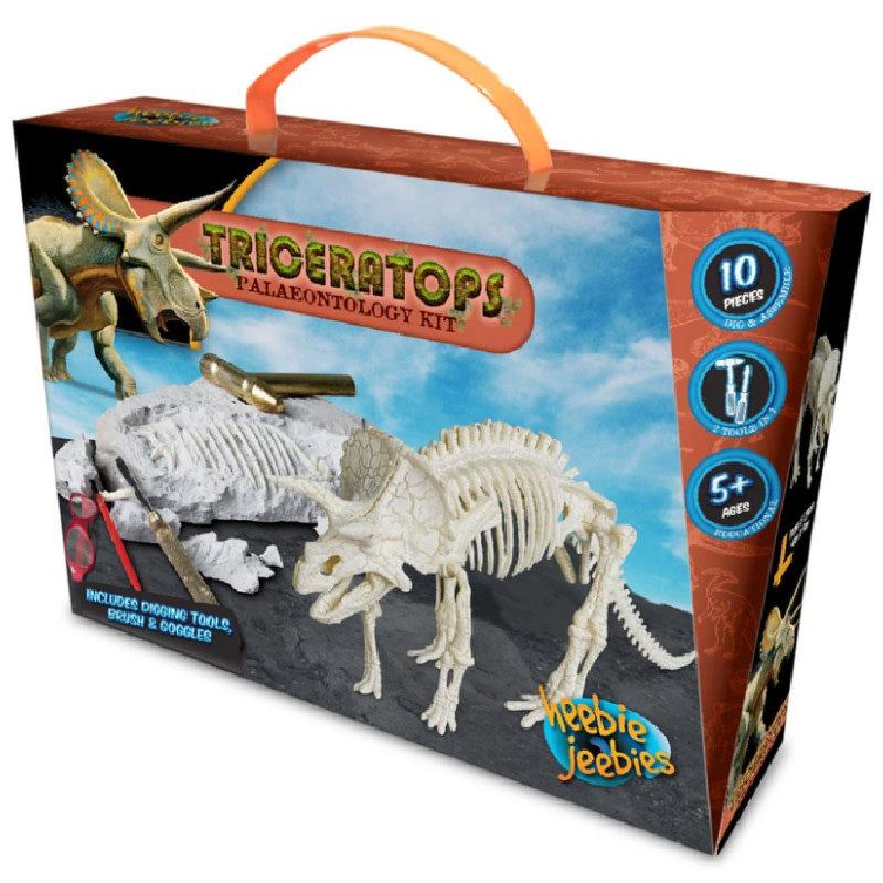 Heebie Jeebies Triceratops Paleontology Kit