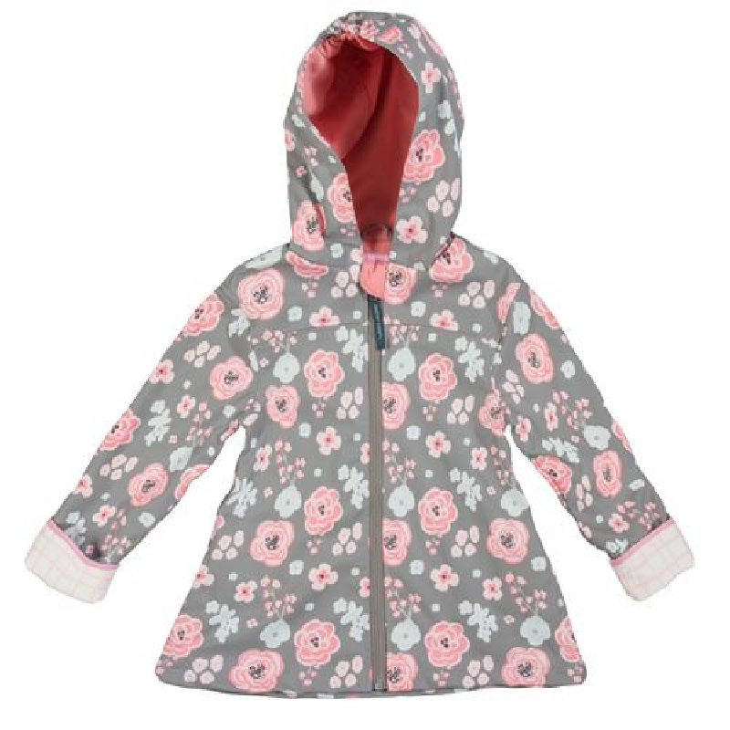 Stephen Joseph Raincoat | Charcoal Floral