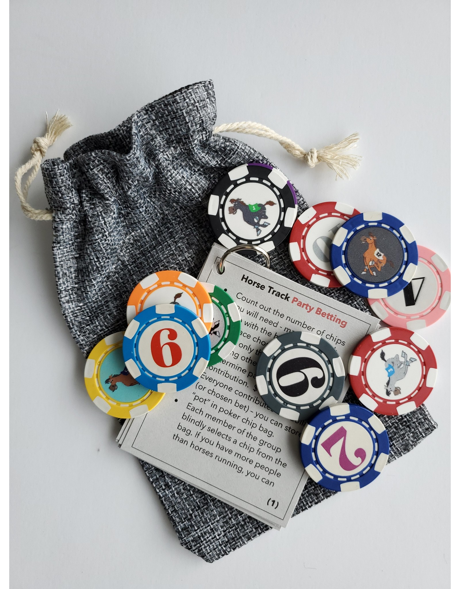Horse Track Party Betting Game Chips