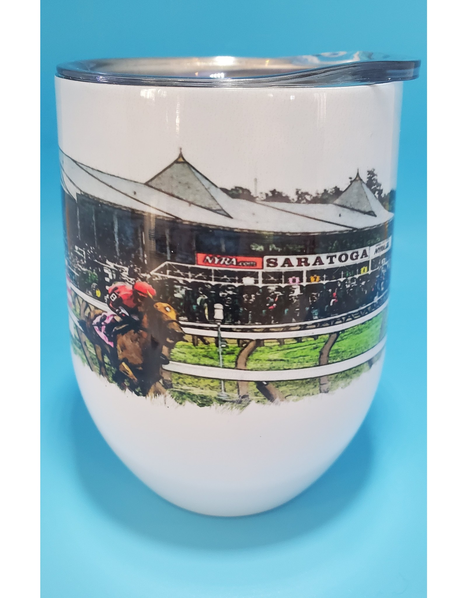 The Traveled Lane Wine Tumbler Saratoga Track #3