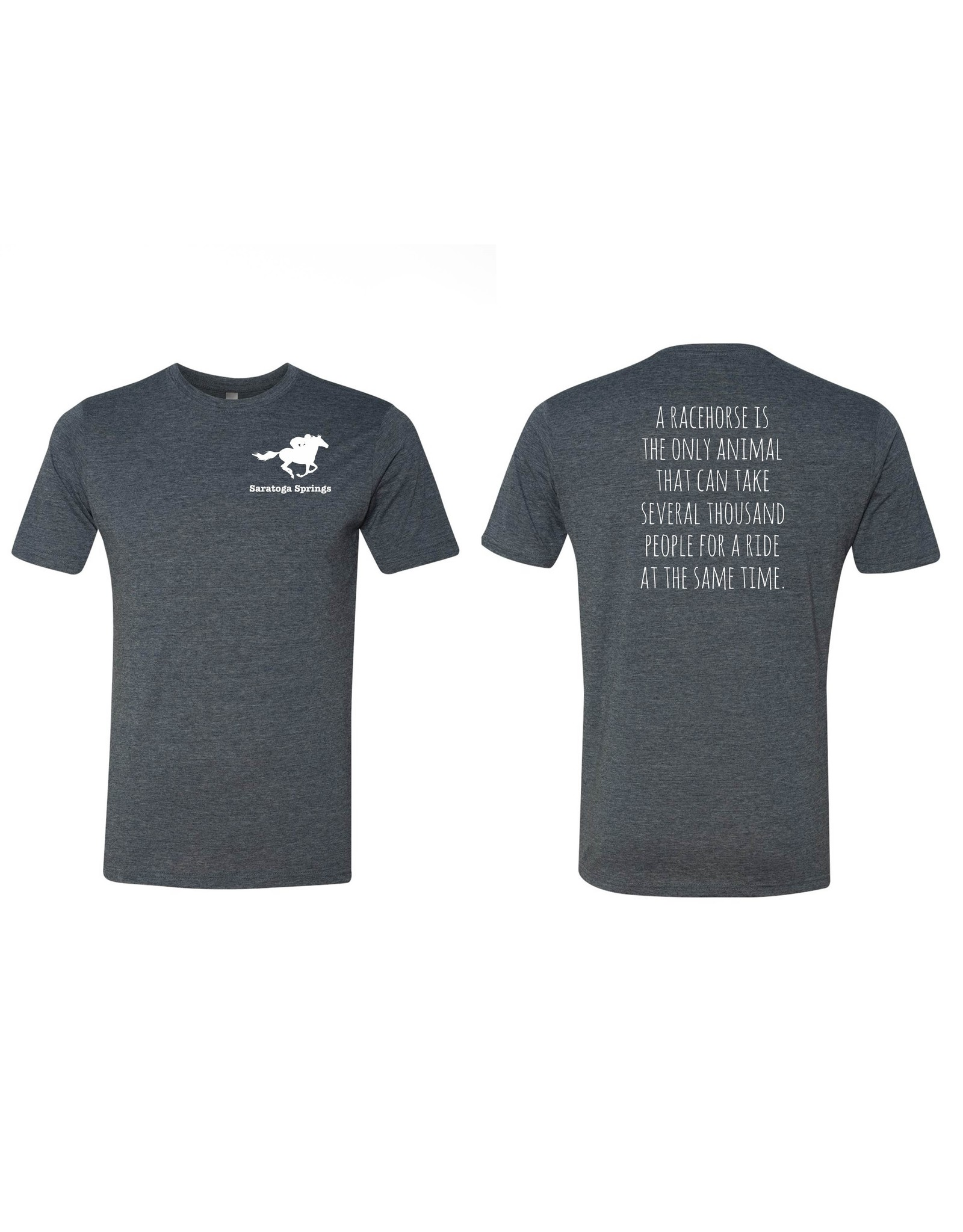 Tailgate and Party Original Tee Shirt - A Racehorse Is The Only Animal