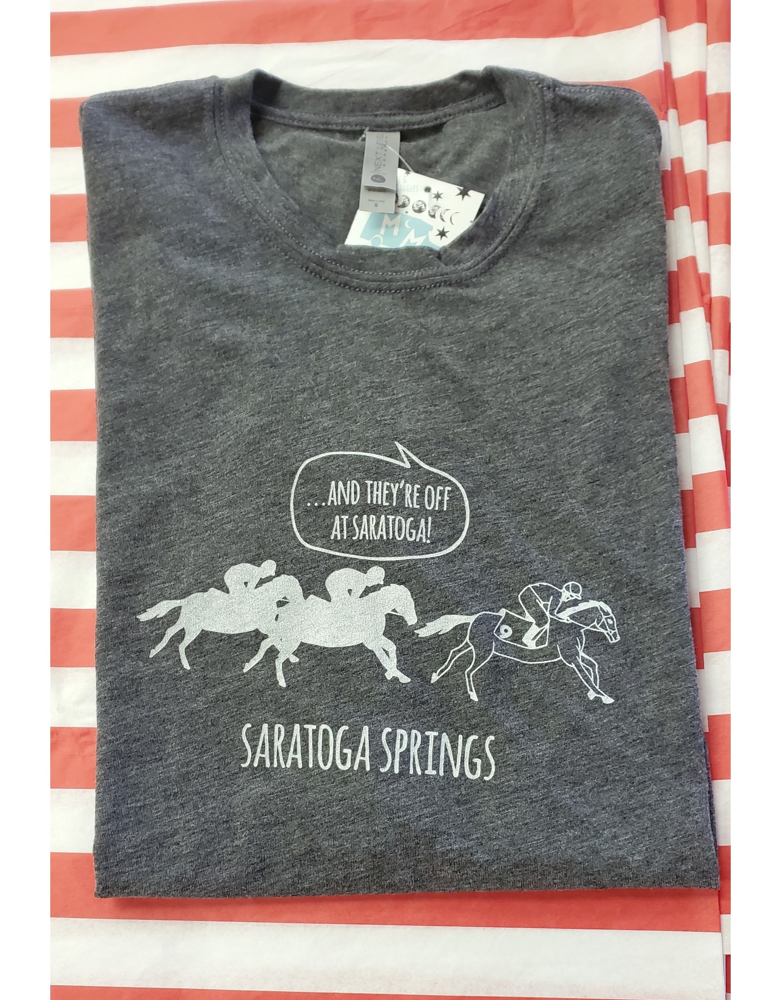 Tailgate and Party Original Tee Shirt - And They're Off in Saratoga