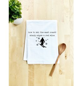 Tailgate and Party Original Dishtowel How to Ski the East Coast