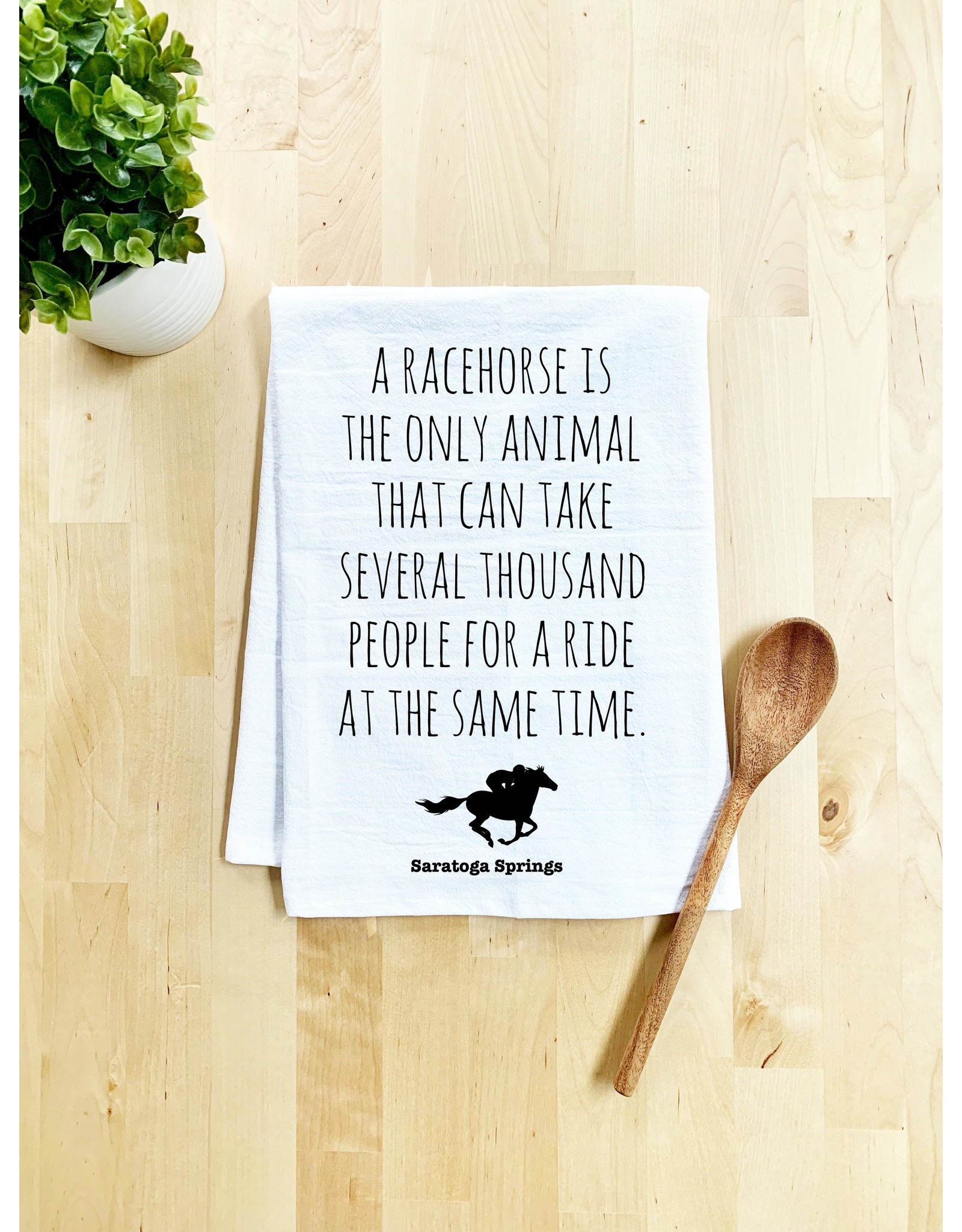 Tailgate and Party Original Dishtowel A racehorse is the only animal