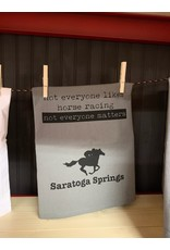 Tailgate and Party Original Dishtowel Not Everyone Likes Horse Racing
