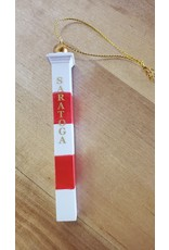 Tailgate and Party Original Saratoga Mile Marker Ornament