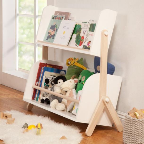 Million Dollar Baby Tally Storage Bookshelf - White