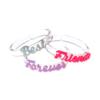 "Lilies & Roses ""BFF"" Acrylic Bracelet/Bangle Set"