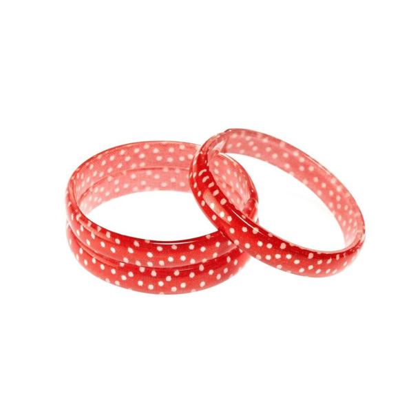 Lilies & Roses Acrylic Bangle/Bracelet