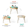 Oribel PortaPlay Stage-Based Convertible Activity Center w/stools