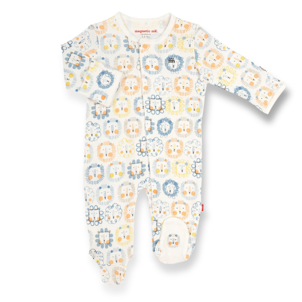Magnificient Baby Magnetic Footie - Organic