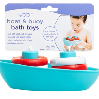 Ubbi Boat & Buoys Bath Toys