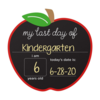 Pearhead First Day/Last Day Chalkboard - Apple