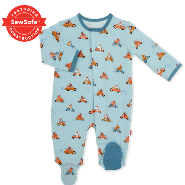 """Magnificent Baby Magnetic Footie - Modal: """"Boy"""""""