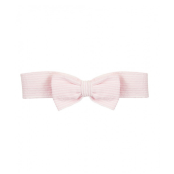 Rufflebutts Pink Seersucker Bow Headband