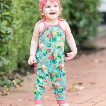 Rufflebutts Flower Patch Full Length Romper