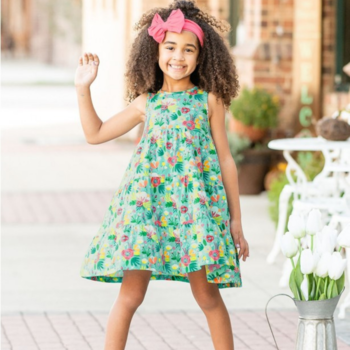 Rufflebutts Flower Patch Tiered Dress