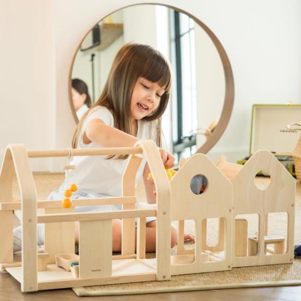 Plan Toys Wooden Slide N Go Dollhouse