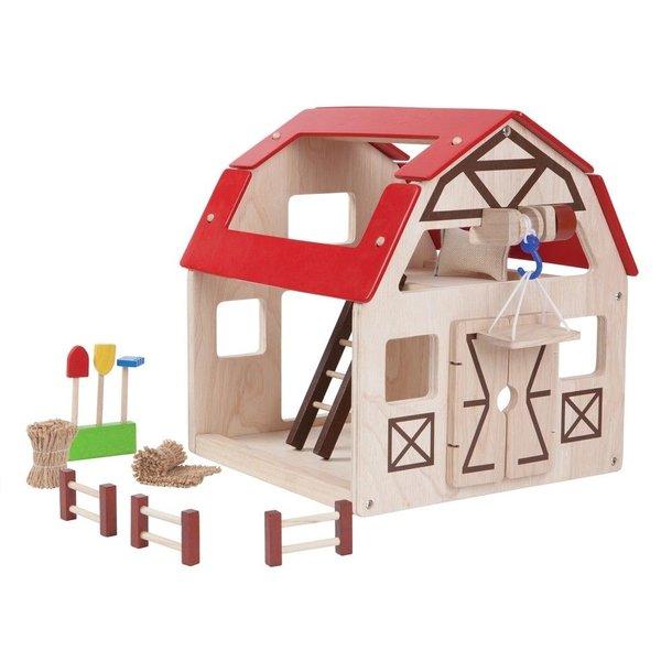 Plan Toys Pretend Play Wooden Barn