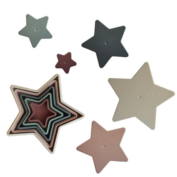 Mushie Mushie: Nesting Stars Stacking Toy