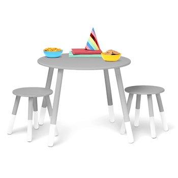 Wildkin Scandinavian-Inspired  Round Table & Stool Set