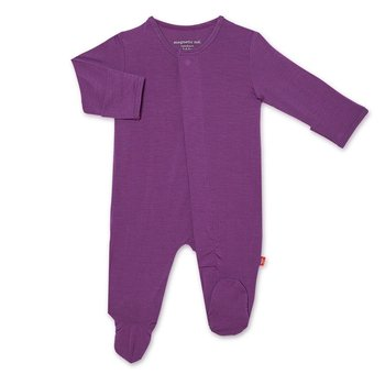 Magnificent Baby Magnetic Me: Magnetic Footie - Wild Plum (Modal)