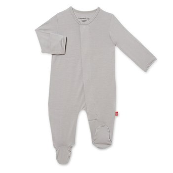Magnificent Baby Magnetic Me: Magnetic Footie - Storm Grey (Modal)