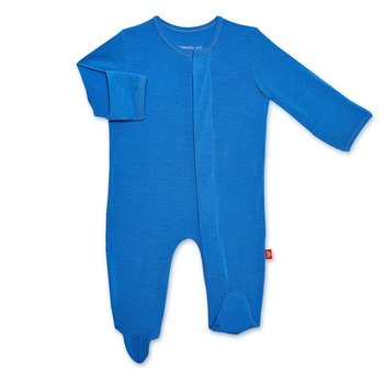 Magnificent Baby Magnetic Me: Magnetic Footie - Solid Cobalt (Modal)