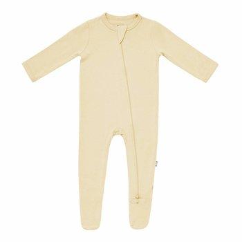 Kyte Clothing Kyte: Zipper Footie - Wheat