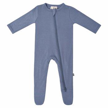 Kyte Clothing Kyte: Zipper Footie - Slate
