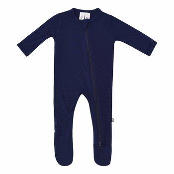 Kyte Clothing Kyte: Zipper Footie - Navy
